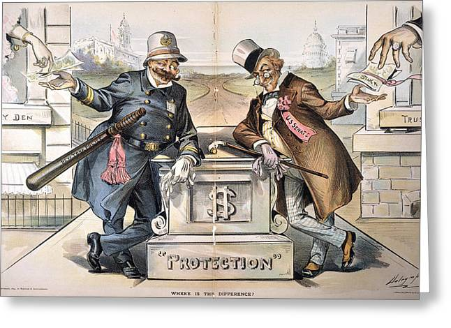 Political Corruption, 1894 Greeting Card by Granger
