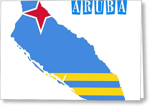 Political Map Of Aruba Greeting Card