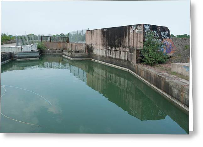 Polluted Industrial Site Greeting Card