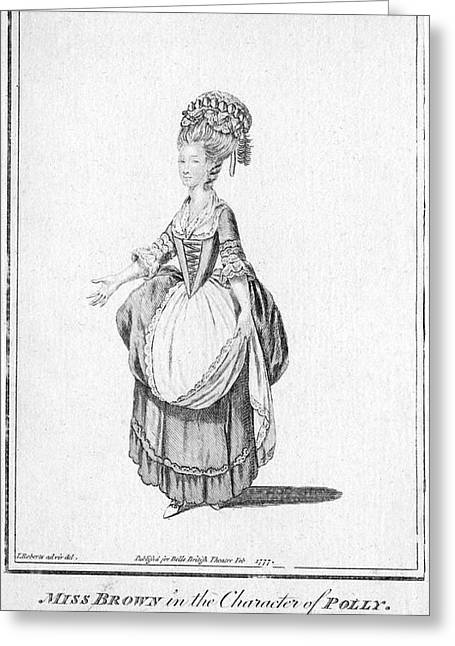 'polly' By John Gay - Miss Brown Greeting Card by Mary Evans Picture Library