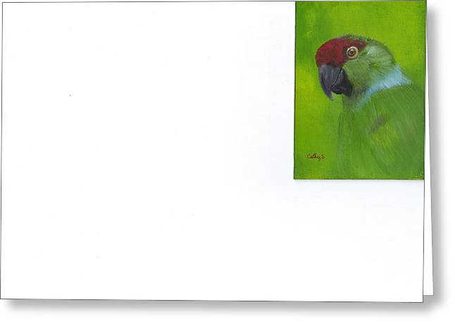 Polly Greeting Card by Catherine Swerediuk