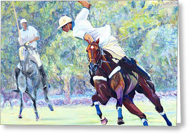 Polo Greeting Card by David Randall