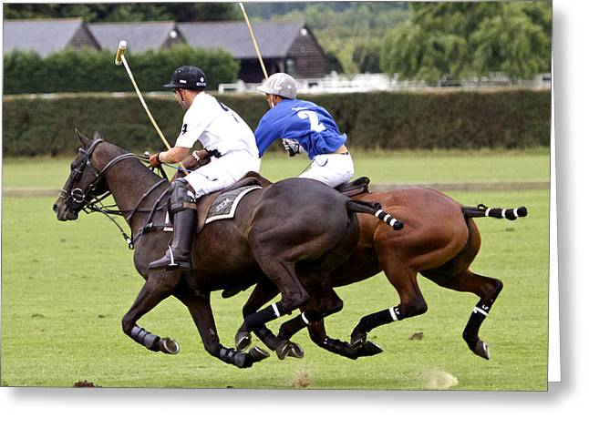 Polo Match In Argentina Greeting Card