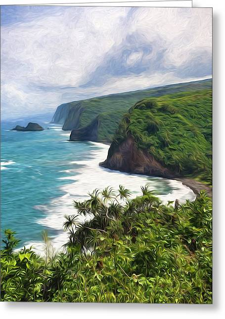 Pololu Valley Beach Greeting Card