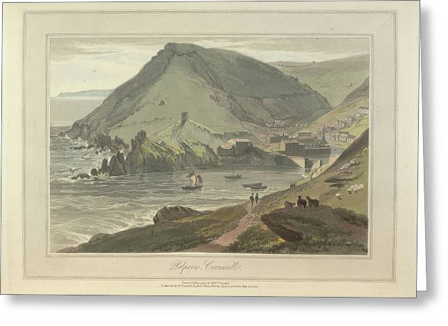 Polperro Greeting Card by British Library
