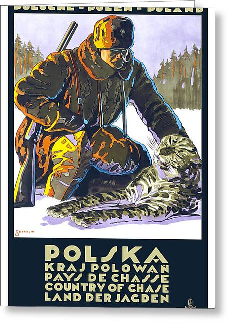 Polska Travel Poster Greeting Card by Inknown