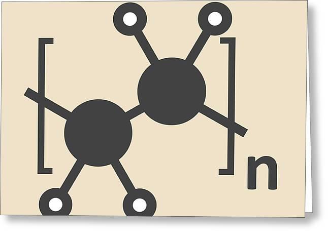 Polyethylene Polymer Molecule Greeting Card by Molekuul