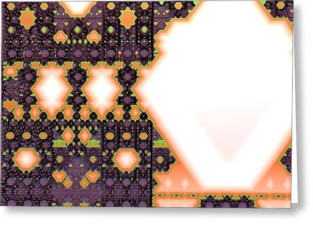 Polygonomical Tapestry Greeting Card by M Rao