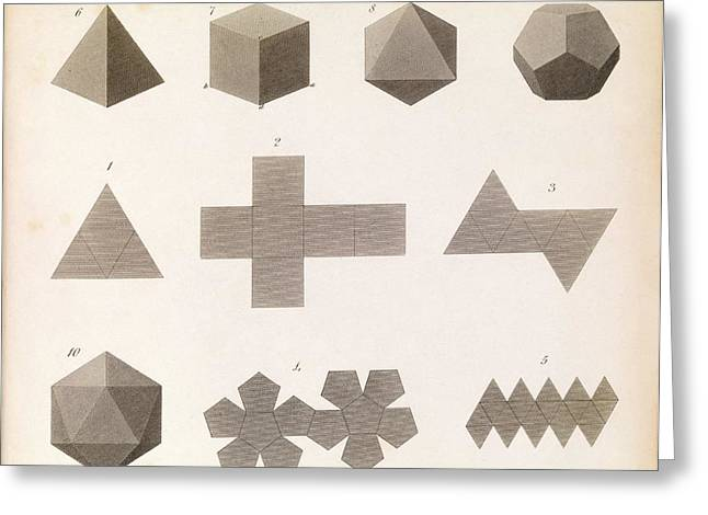 Polyhedron Geometry Greeting Card by Middle Temple Library