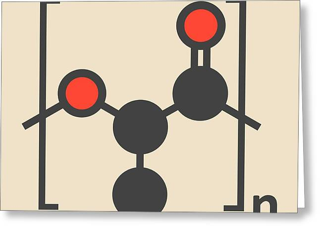 Polylactic Acid Polymer Molecule Greeting Card by Molekuul