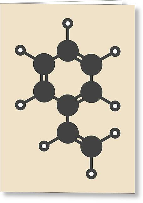 Polystyrene Building Block Molecule Greeting Card by Molekuul