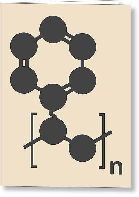 Polystyrene Plastic Polymer Molecule Greeting Card by Molekuul