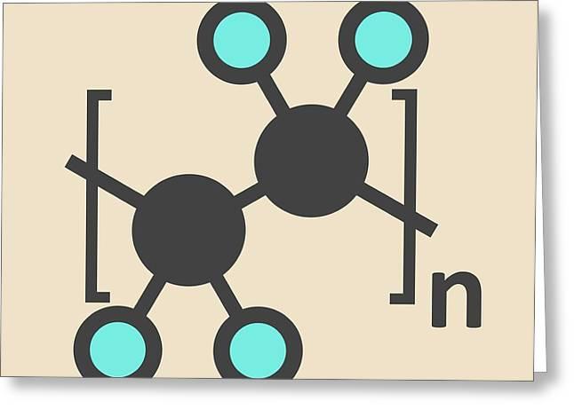Polytetrafluoroethylene Polymer Molecule Greeting Card