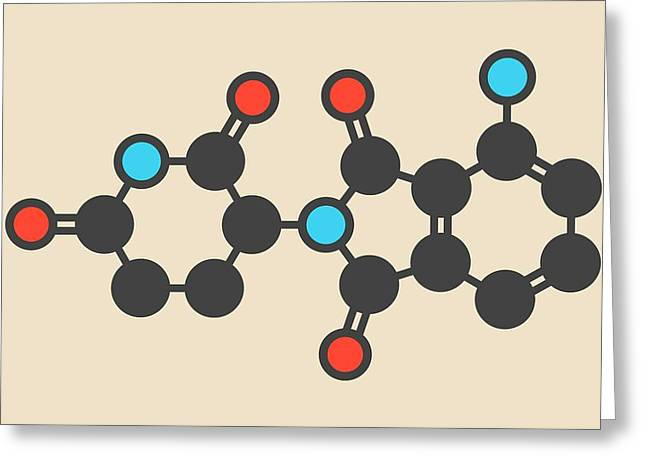 Pomalidomide Molecule Greeting Card by Molekuul
