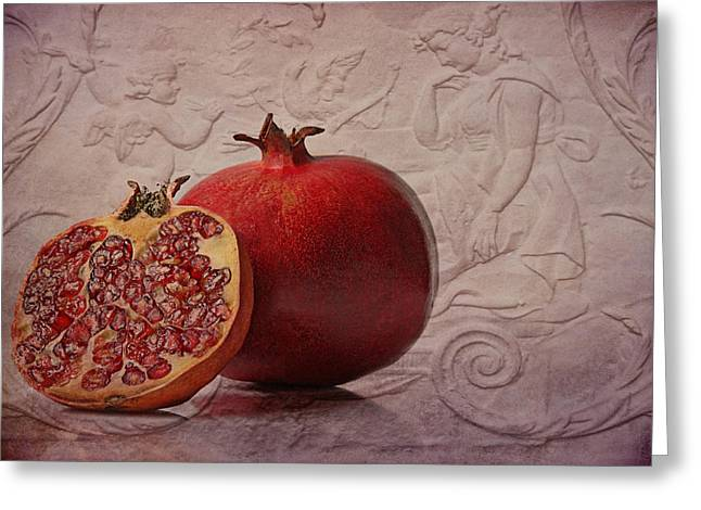 Pomegranate Greeting Card by Claudia Moeckel