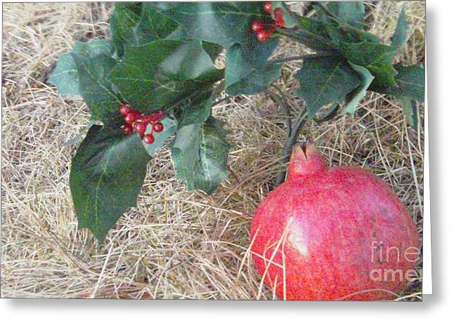 Pomegranate Love Forever Greeting Card by Feile Case