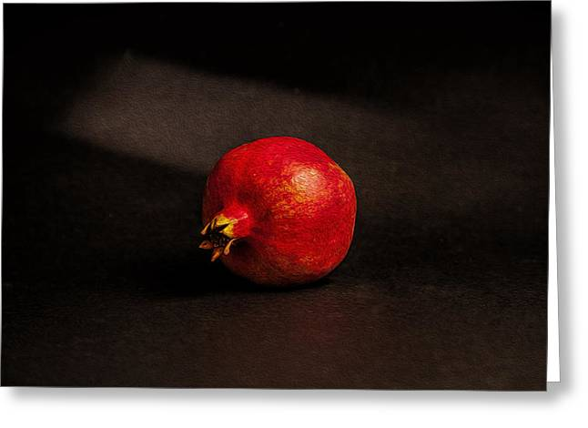 Pomegranate Greeting Card by Peter Tellone