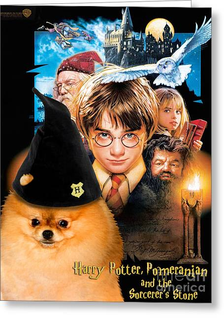 Pomeranian Art Canvas Print - Harry Potter Movie Poster Greeting Card