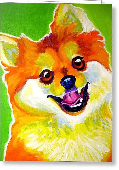 Pomeranian - Tiger Greeting Card