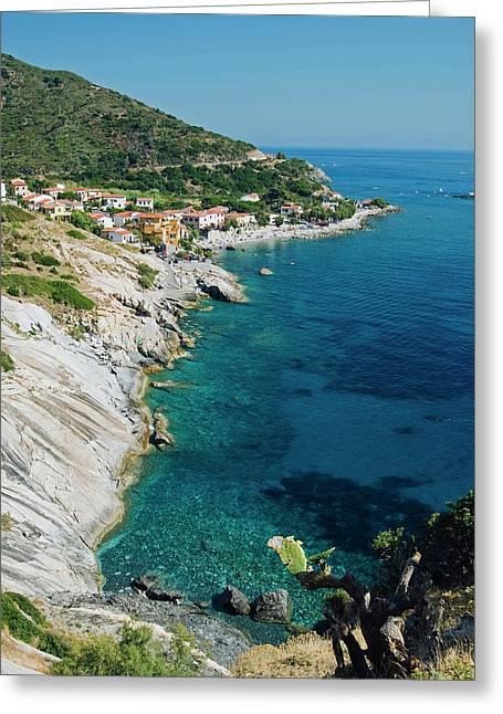 Pomonte, Isola D'elba, Elba, Tuscany Greeting Card by Nico Tondini