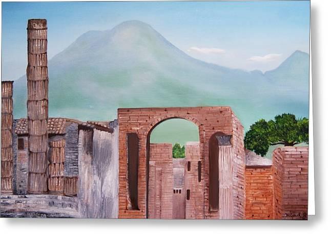 Pompeii And Vesuvius   Greeting Card