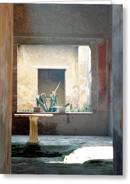 Pompeii Courtyard Greeting Card by Marna Edwards Flavell