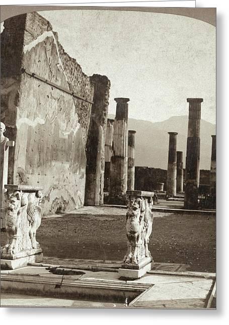 Pompeii House, C1897 Greeting Card by Granger