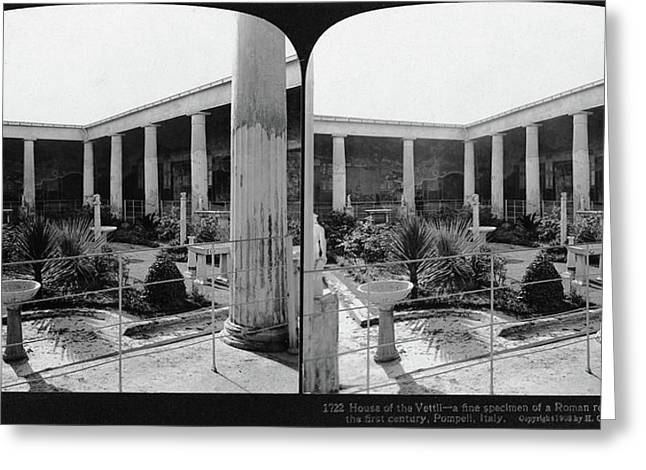 Pompeii House Of The Vettii Greeting Card by Granger