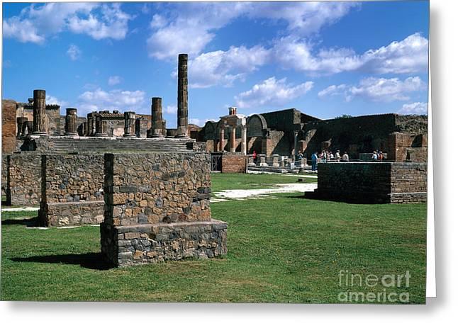 Pompeii Greeting Card by Rafael Macia