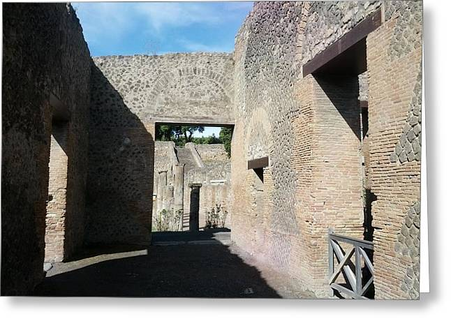 Pompeii Ruins I Greeting Card by Shesh Tantry
