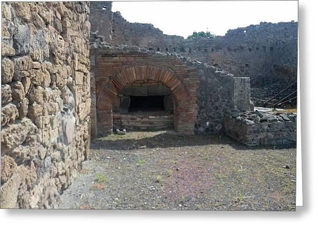 Pompeii Ruins II Greeting Card by Shesh Tantry