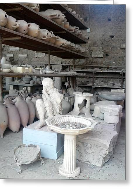 Pompeii Ruins IIi Greeting Card by Shesh Tantry