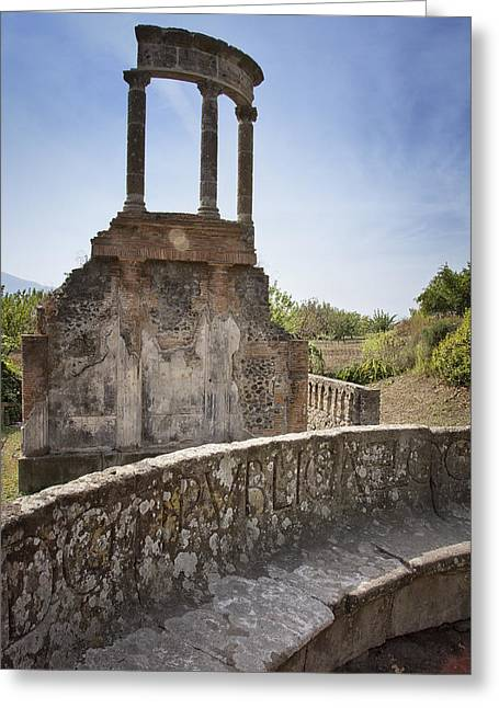 Pompeii Ruins Greeting Card by Kim Andelkovic