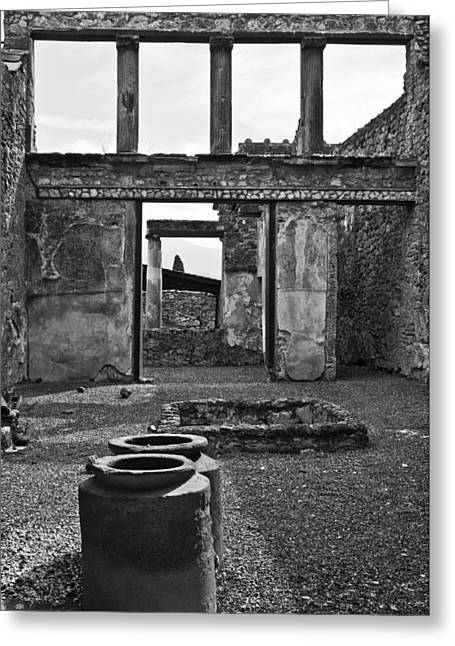 Pompeii Urns Greeting Card by Marion Galt