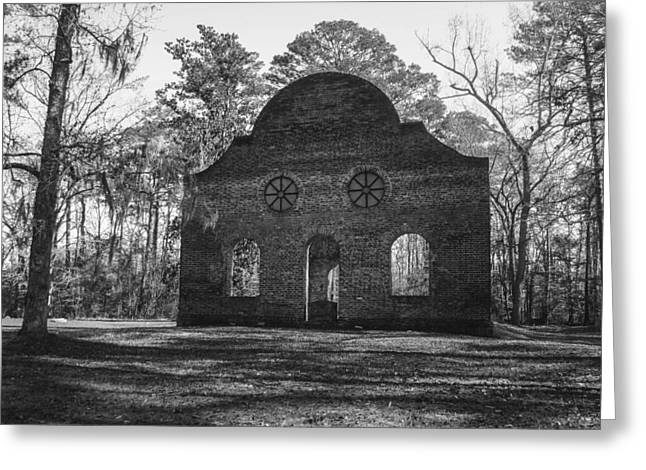 Pon Pon Chapel Of Ease 2 Bw Greeting Card by Steven  Taylor