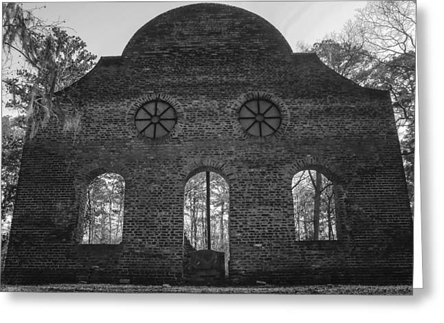 Pon Pon Chapel Of Ease 5 Bw Greeting Card by Steven  Taylor