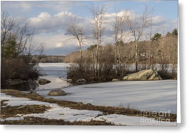 Ponaganset In Winter Greeting Card