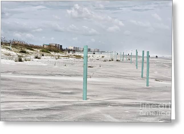 Ponce Beach Greeting Card by Deborah Benoit