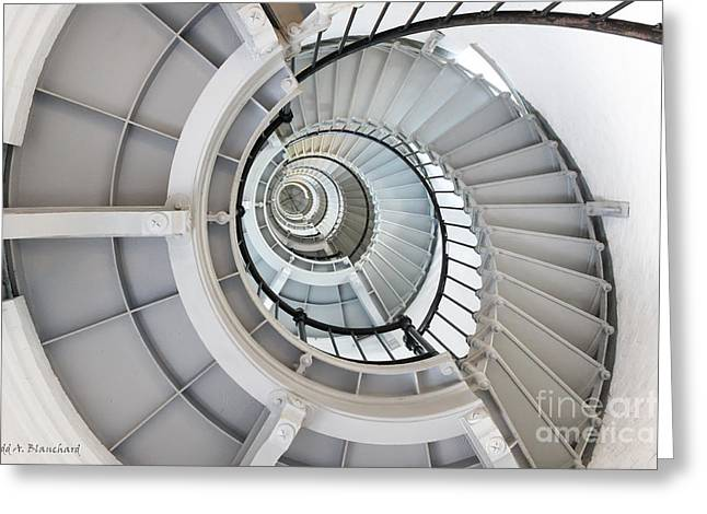 Greeting Card featuring the photograph Ponce De Leon Inlet Lighthouse Staircase by Todd Blanchard