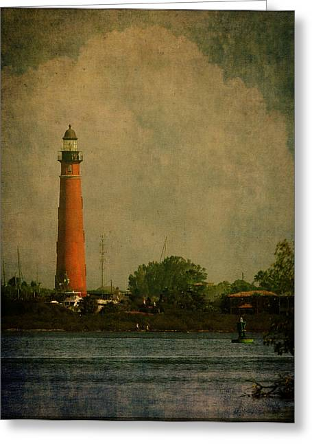 Ponce De Leon Light House Greeting Card by Dorothy Cunningham