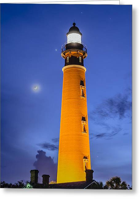 Ponce De Leon Lighthouse Greeting Card by Alan Marlowe