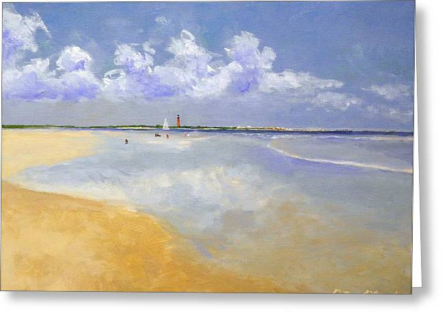 Ponce Deleon Inlet From New Smyrna Beach Greeting Card