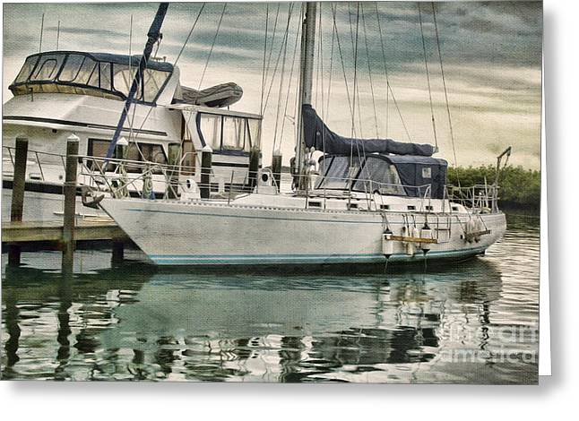 Ponce Inlet Docked Greeting Card