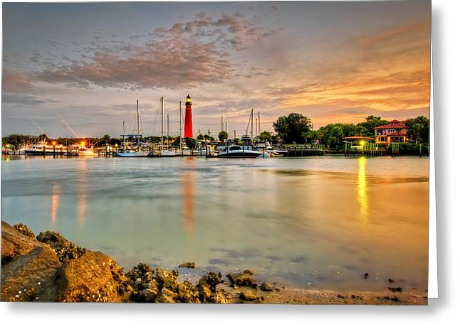 Ponce Inlet Lighthouse Greeting Card by Brent Craft