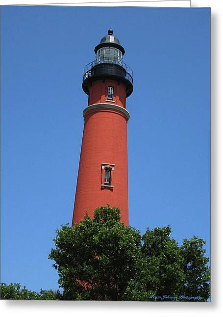 Ponce Inlet Lighthouse Florida Greeting Card by Brian Johnson