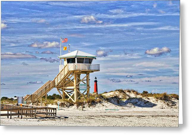 Ponce Inlet Scenic Greeting Card by Alice Gipson