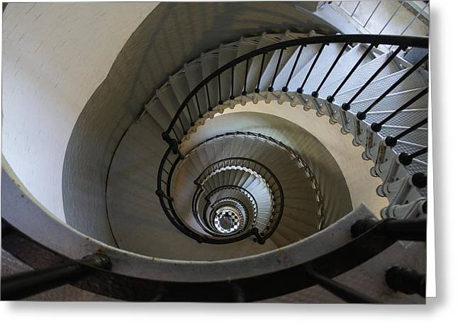 Ponce Stairs Greeting Card by Laurie Perry