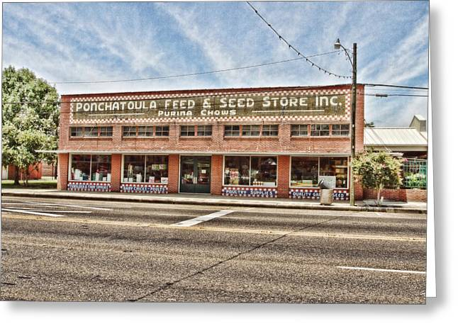 Ponchatoula Feed And Seed Greeting Card by Scott Pellegrin