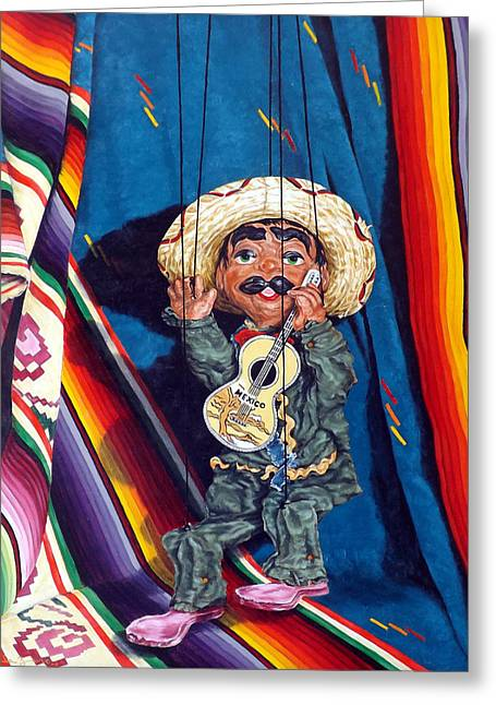 Poncho And His Guitar Greeting Card