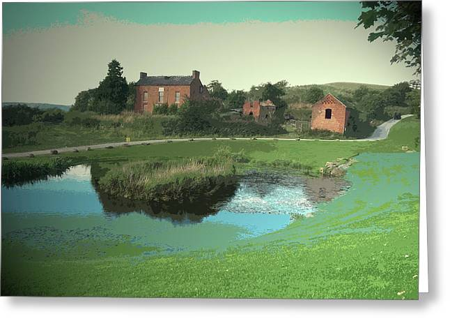 Pond And Derelict Dwelling On The, A Slightly Incongruous Greeting Card by Litz Collection